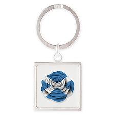 Scottish Rose Flag on White Keychains