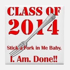 Class of 2014 Tile Coaster