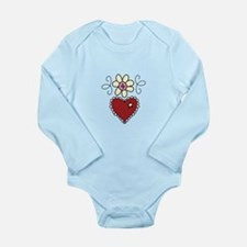 Heart And Flower Body Suit