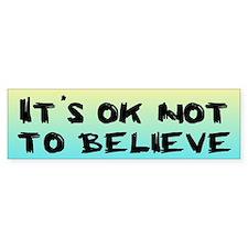 IT'S OK Bumper Car Sticker
