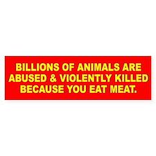 ANIMALS KILLED Bumper Car Sticker