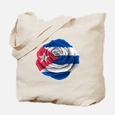 Cuban Rose Flag Tote Bag
