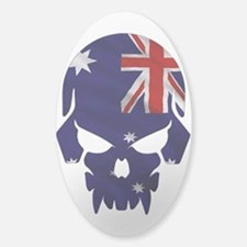 Australia Flag Skull Decal Decal