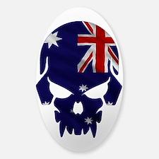 Australia Flag Skull Sticker (Oval) Sticker (Oval)
