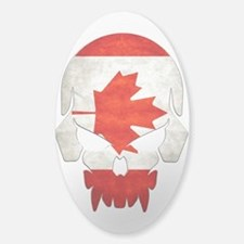 Canadian Flag Skull Decal Decal