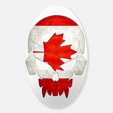 Canadian Flag Skull Sticker (Oval) Sticker (Oval)