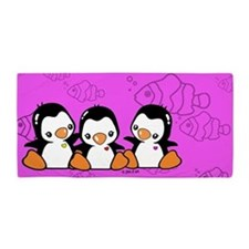 Cute Penguins Beach Towel