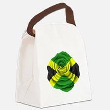 Jamaican Rose Flag on Pink Canvas Lunch Bag