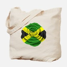 Jamaican Rose Flag on Pink Tote Bag