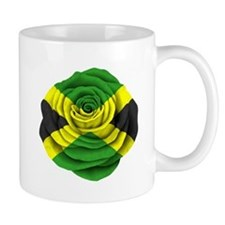 Jamaican Rose Flag on Pink Mugs