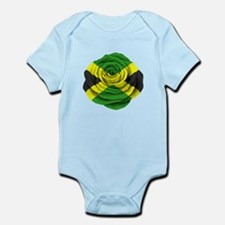 Jamaican Rose Flag on Pink Body Suit