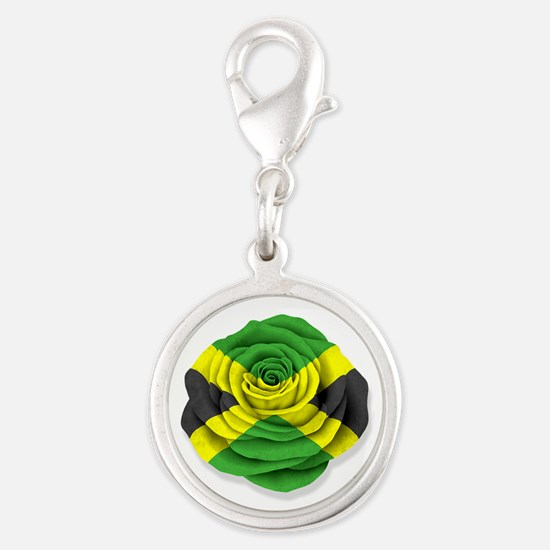 Jamaican Rose Flag on White Charms