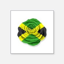 Jamaican Rose Flag on White Sticker