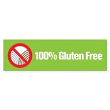 100% Gluten Free Bumper Car Sticker