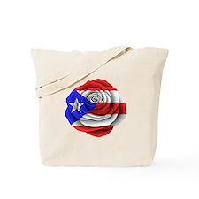 Puerto Rican Rose Flag Tote Bag