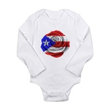 Puerto Rican Rose Flag Body Suit
