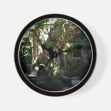 Hidden Courtyard Wall Clock