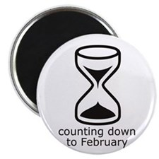 Due February (countdown) magnet
