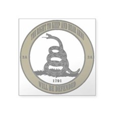 Defend the Second Amendment Square Sticker 3""