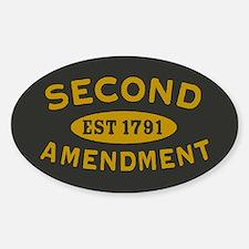 Second Amendment Sticker (Oval)