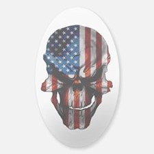 Flag & Skull White or Clear Decal