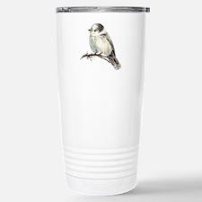 Cute Friendly Canada, Gray or Grey Jay Travel Mug