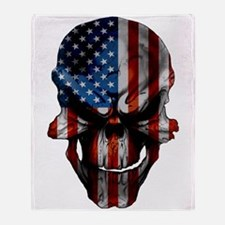 Flag & Skull Throw Blanket