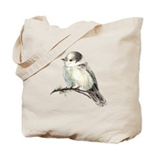 Cute Friendly Canada, Gray or Grey Jay Tote Bag