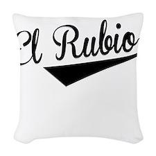 El Rubio, Retro, Woven Throw Pillow