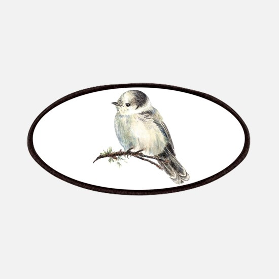 Cute Friendly Canada, Gray or Grey Jay Patches