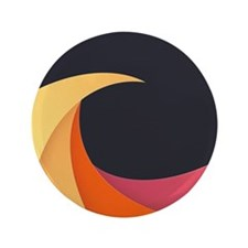 """Colorful Wave 3.5"""" Button (100 pack)"""