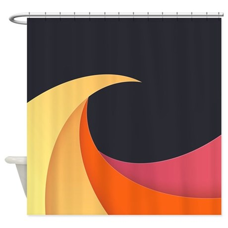 Colorful Wave Shower Curtain By FuzzyChair