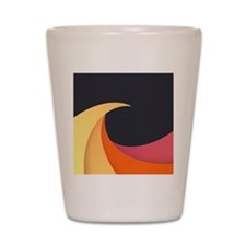 Colorful Wave Shot Glass