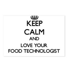 Keep Calm and Love your Food Technologist Postcard