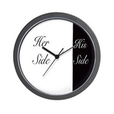 Her side his side Wall Clock