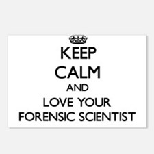 Keep Calm and Love your Forensic Scientist Postcar