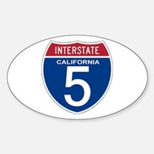 I-5 California Oval Decal