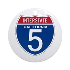 I-5 California Ornament (Round)