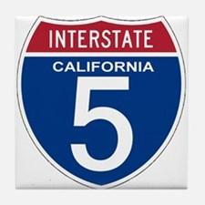 I-5 California Tile Coaster