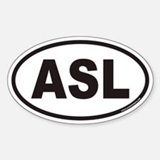 ASL Euro Oval Decal