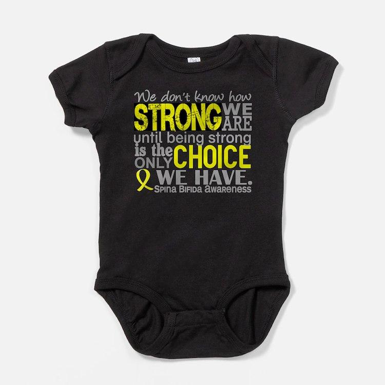 Spina Bifida HowStrongWeAre1 Baby Bodysuit
