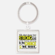Spina Bifida HowStrongWeAre1 Square Keychain