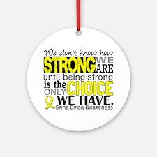 Spina Bifida HowStrongWeAre1 Ornament (Round)