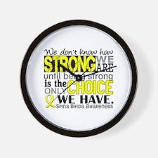 Spina Bifida HowStrongWeAre1 Wall Clock