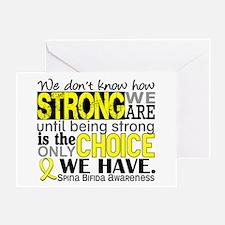 Spina Bifida HowStrongWeAre1 Greeting Card
