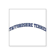 "Cute Staffordshires Square Sticker 3"" x 3"""