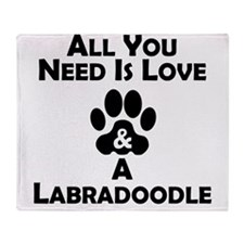 Love And A Labradoodle Throw Blanket
