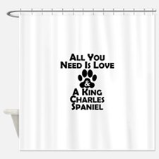 Love And A King Charles Spaniel Shower Curtain