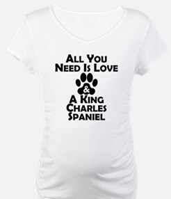 Love And A King Charles Spaniel Shirt