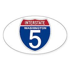 I-5 Washington Oval Decal